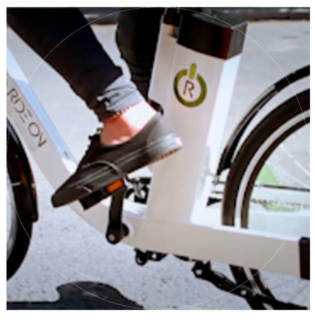 pedaling foot